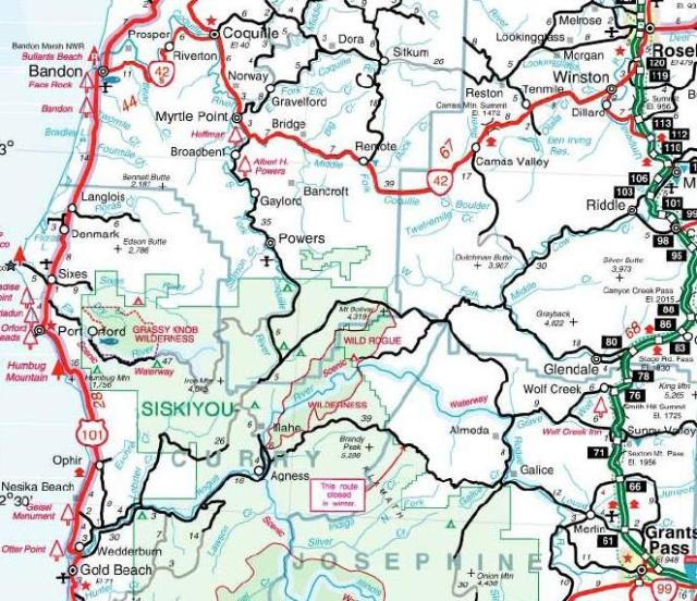 Rogue River Section - Oregon State HighwayMap